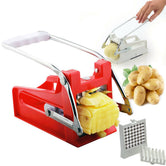 Multipurpose French fries cutter with 2 adjustable stainless steel blades, Potato cutter,  manual vegetable and potato slicer