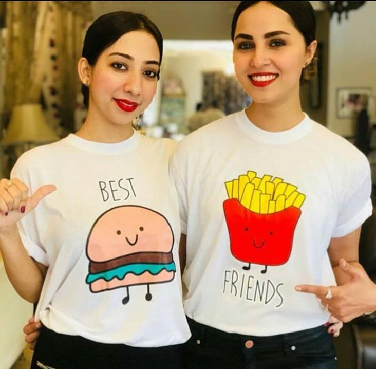 Best Friends Couple Tshirt For Her