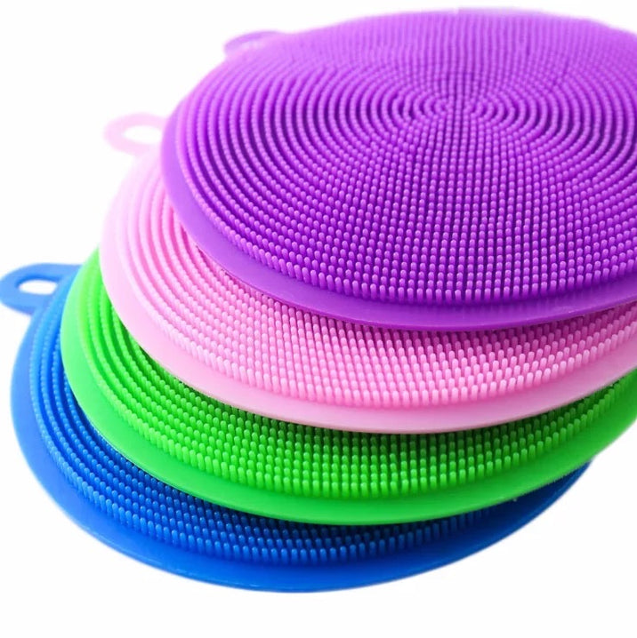Multi-Purpose Silicon Dish Sponge, Kitchen Cleaning Scrubber, Silicone Dish Scrubber