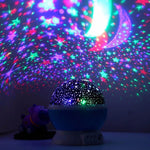 3D Night Light Projector, Color Changing USB Rotating Star Lamp