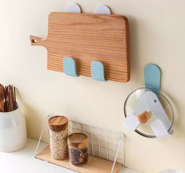Rotatable Multi-functional Pot Lid Holder Rack, Wall-Mounted Pot Lid Storage Shelf, Pan Cover Organizer, Kitchen Hook Organizer