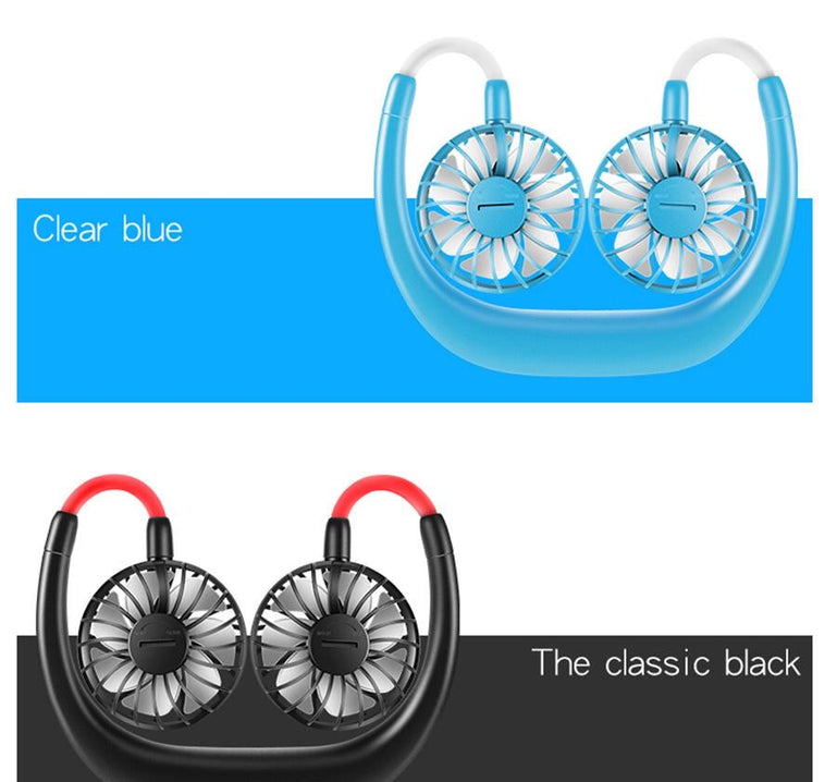 Portable Neck Fan, Rechargeable Hands-Free Fan, Adjustable High Flexibility Hanging Fan