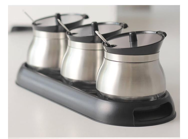 Stainless Steel Spice Tanks Set