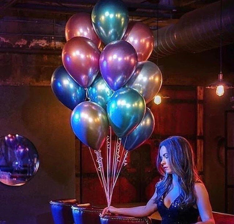Pack Of 10 Metallic Balloons