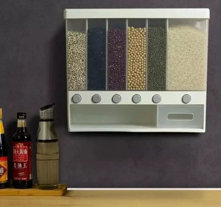 10 kg Cereal Dispenser, Wall-Mounted Dry Food Dispenser, Cereal Food Storage Container, Kitchen Storage Tank