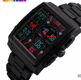 Military Sports Electronic Watch, Men's Digital Watch, Analog Digital LED 50M Waterproof Watches for Men