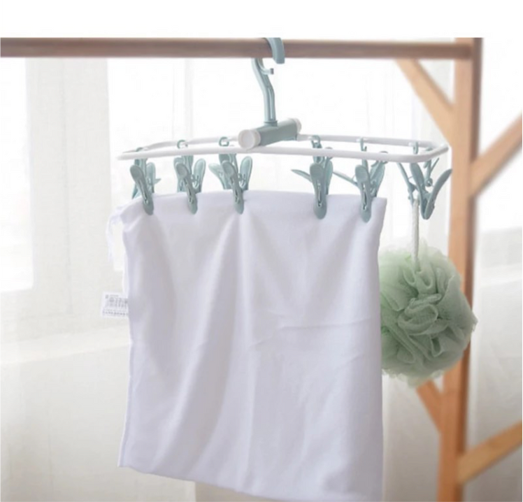 12 Clip Folding Drying Rack
