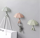Pack of 3 Wall-mount Umbrella  key Holder, Cute umbrella wall hanger, Toothbrush Holder, Umbrella Shape Kitchen Storage Hook