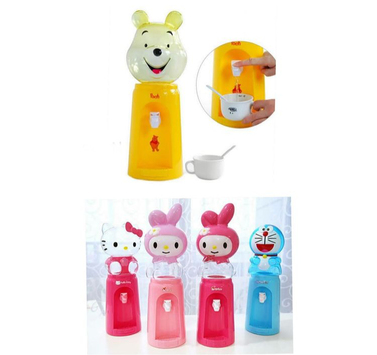 Mini Cartoon Character Water Dispenser, Kids Small Water Dispenser, Funky water Server for Desk
