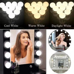 10 Bulb vanity light, Vanity Lights for Mirror, 10 Bulbs LED Makeup Light for Bathroom, Dressing Room, Vanity Table