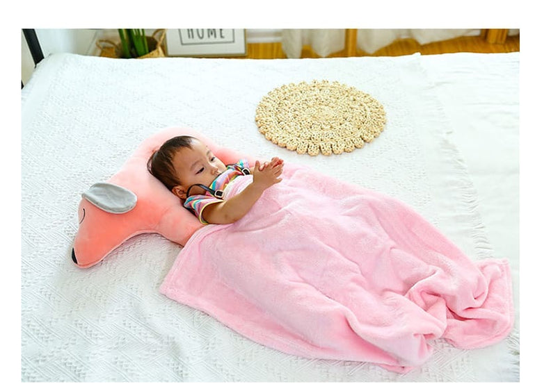 Creative Baby Sleeping Pillow with Blanket