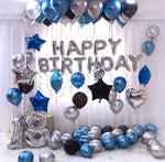 Silver Blue 73 Pcs HBD Party Deal
