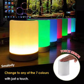 Wireless Portable Bluetooth Speaker, LED Touch Lamp Speaker, Smart Touch LED Mood Lamp