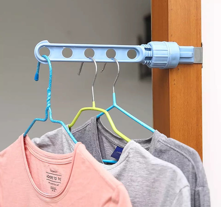 5 Hole Plastic Window Cloth Drying Rack, Clothes Rack Hook Hanger, Home Space Saving Storage Hook