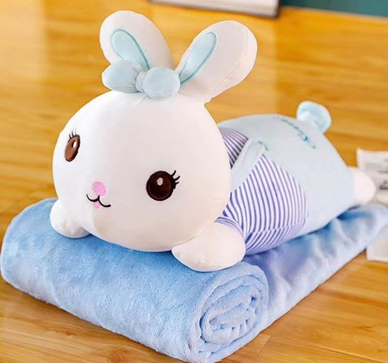 2 in 1 Rabbit Plush Pillow with Blanket