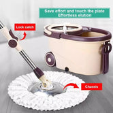 Rolling Wheel Mop for Floor Cleaning, 360° Spin Mop Rotating and Bucket Set, Mop Bucket Kit with Handle
