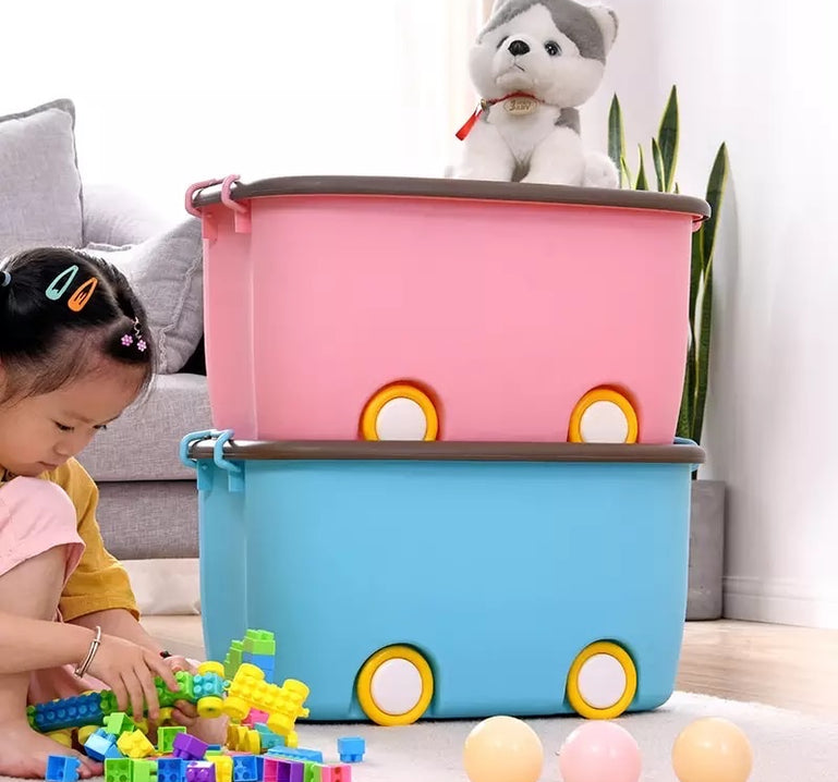 Colorful Multi-purpose Storage Box, Multipurpose Toy wheel Storage Containers,  Home Kid's Toy Organizer