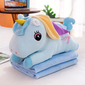 2 in 1 Unicorn Plush Pillow with Blanket