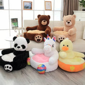 Plush soft Animal Sofa, Children's Plush Cartoon Character Seat, Cute Baby Sofa Seat for Kids