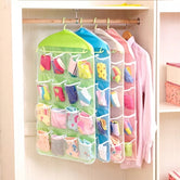 16 Pockets Multifunctional Organizer, Foldable Wardrobe Hanging Bag, Storage Bags For Stocking Accessories
