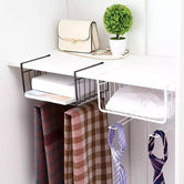 Under Shelf Storage Rack, Cupboard Organizer, Kitchen Storage Rack, Multipurpose Shelf Basket, Stainless Steel Wire Rack Storage