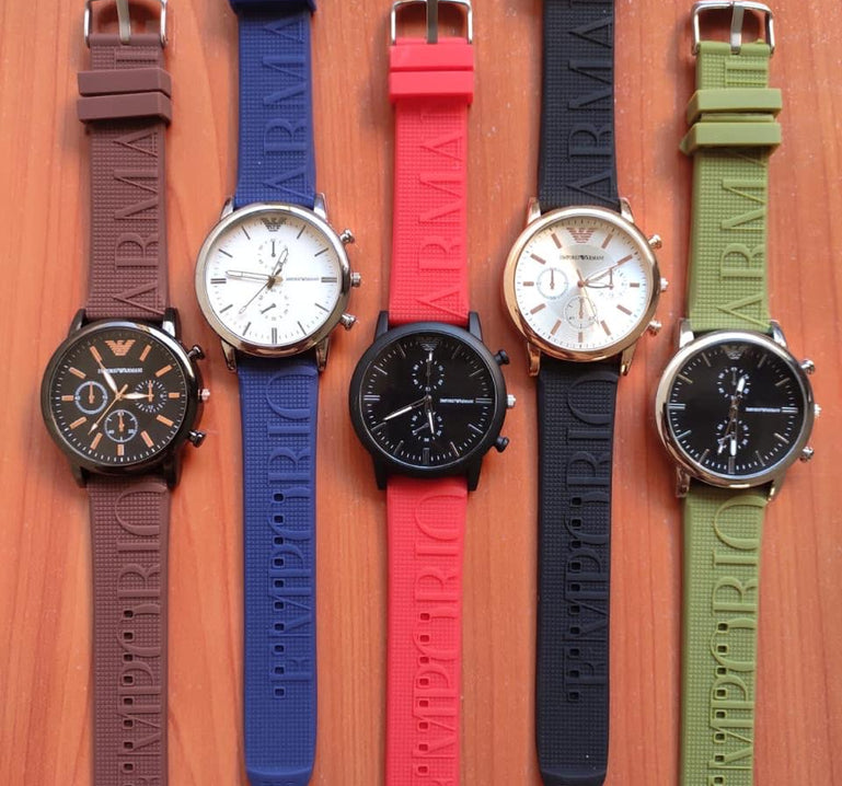 Analog Dial Unisex Watches, Silicone Strap Wrist Watch For Women, Round Dial Silicone Strap Analog Men's Watch
