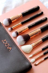 Zoeva Makeup Brushes Set 15 Pieces, Professional Makeup Brush Set, Beauty Foundation Brush Set