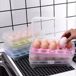 15 Grids Transparent Egg Storage Box, Single Layer Egg Storage Container, Egg Trays With Plastic Lid