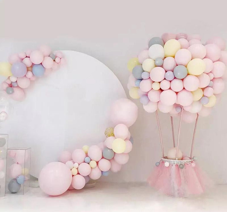 100 Pcs Mix Candy Color Macaron Latex Balloons