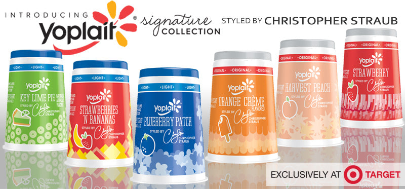 Yoplait Signature Collection designed by Christopher Straub exclusively at Target.