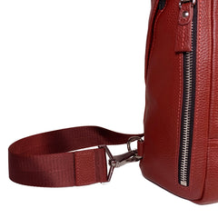 CODE Leather Crossbody Bag