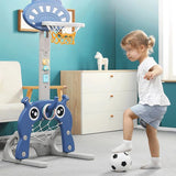 Adjustable 6 in 1 Basketball Kids Hoop Toy Set