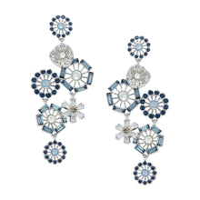 Flor Azul Statement Earrings