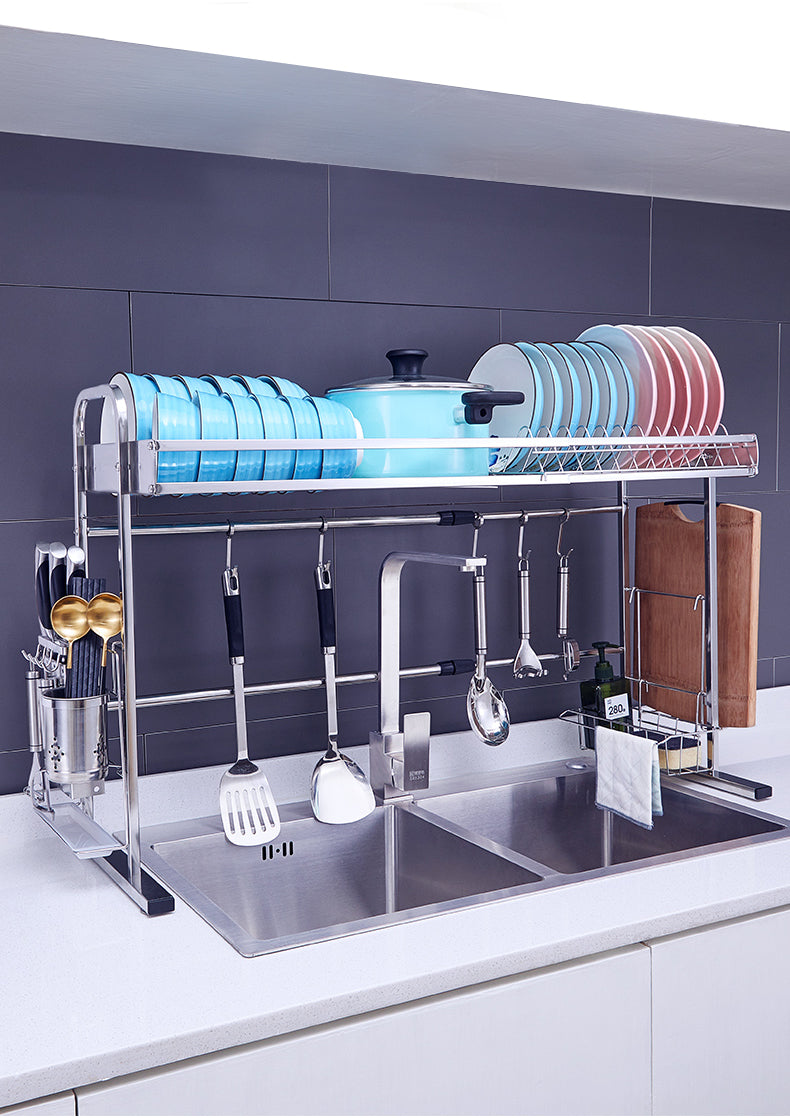 Adjustable Stainless Steel Kitchen Dish Rack