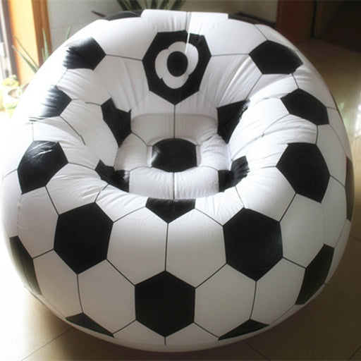 Inflatable basketball football sofa couch living room sofa single seat settee Environment PVC white black