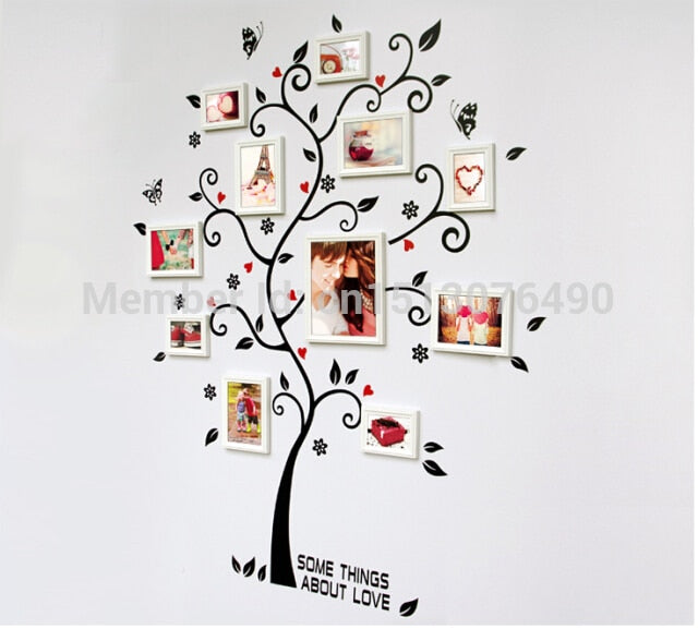 DIY 3D Removable PVC Photo Tree Wall Decals/Adhesive Wall Stickers Home Decor