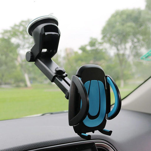 JEREFISH Car Mobile Phone Holder GPS Accessories Suction Cup Retractable Mount Stand