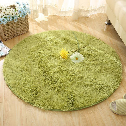 Fluffy Round Rug Carpets for Living Room Kilim Faux Fur Carpet Kids Room  Long Plush rugs for bedroom Shaggy Area Rug White