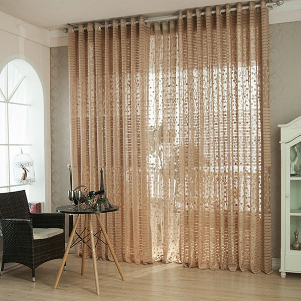 Europe style solid tulle sheer window curtains for living room the bedroom kitchen modern tulle curtains fabric drapes panels