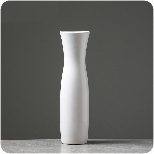 Classic White Ceramic Chinese Vase Arts And Crafts