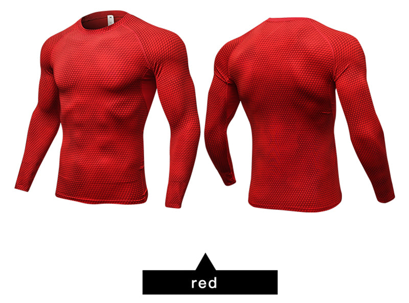 New Long Sleeve Sport Shirt Men Quick Dry Running T-shirts for Gym Fitness Crossfit Soccer Jersey