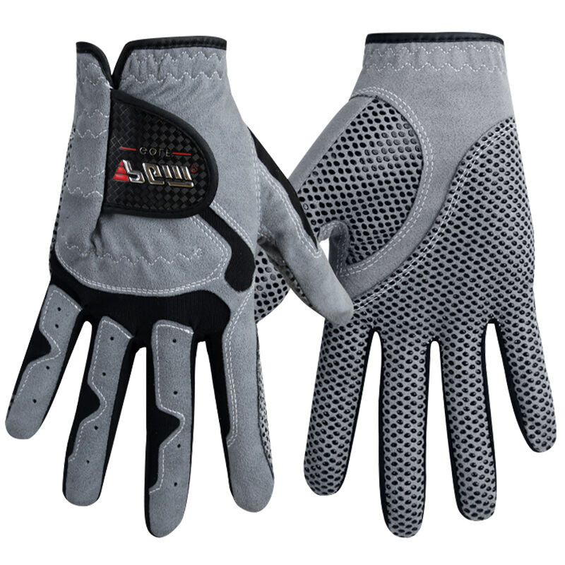 Men's Golf Gloves Micro Fiber Breathable Soft Left Hand with Anti-Skidding Particles