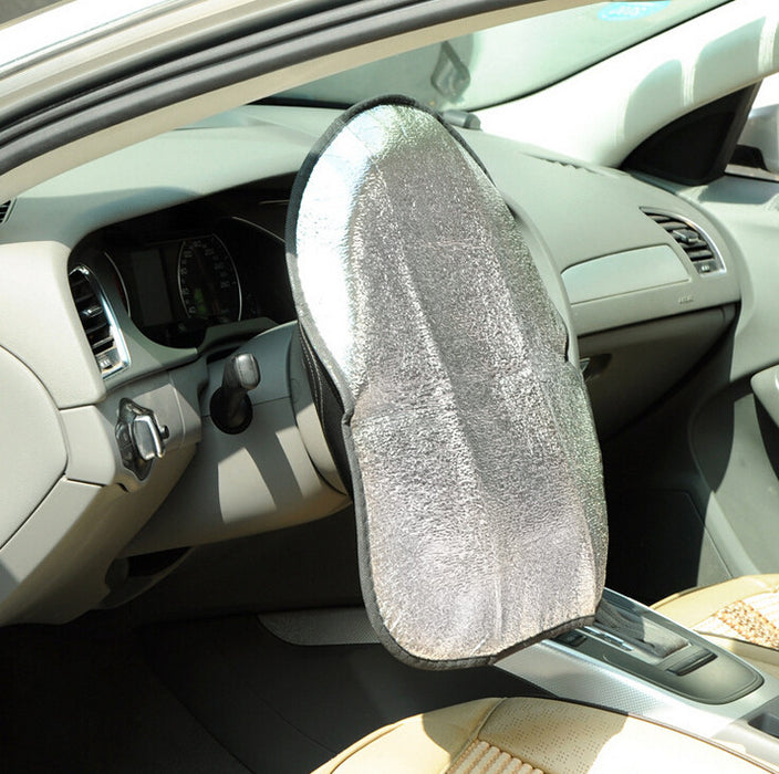 Double Thicken Car Steering Wheel Sun Shade Cover Anti Hot Aluminum Foil Automotive Accessories