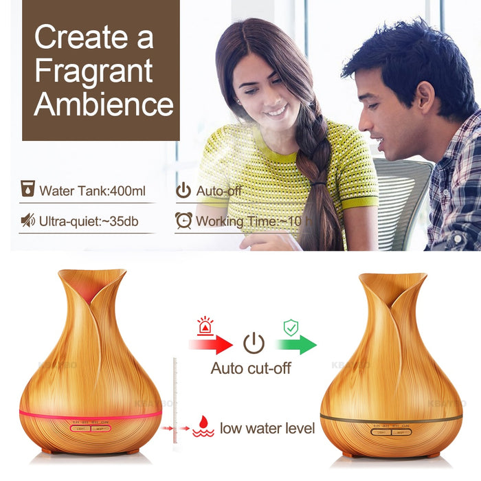 Electric Wood Air Humidifier Essential Oil
