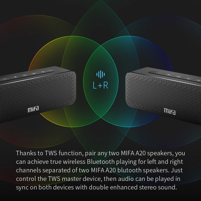Bluetooth Speaker Metal Portable Super Bass Wireless speaker Bluetooth4.2 3D Digital Sound Loudspeaker Handfree MIC TWS MIFA A20