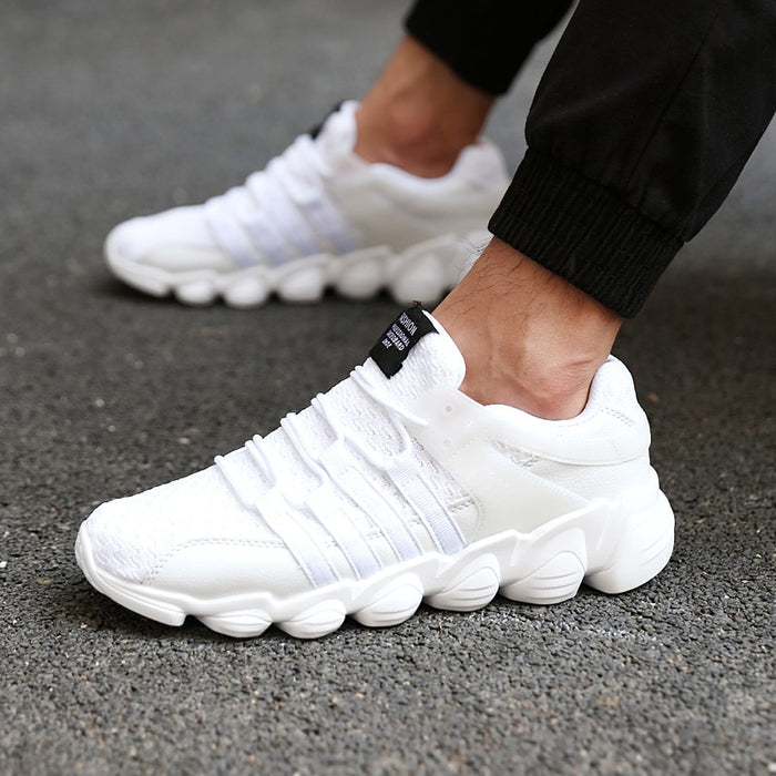 Outdoor road running jogging walking sports shoes for adult men high-quality lace-up Breathable mesh sneakers
