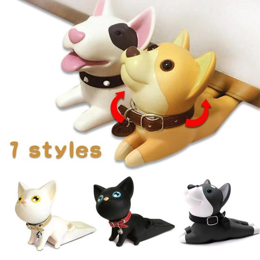 Baby Safety Cartoon Puppy Cat Door Stopper