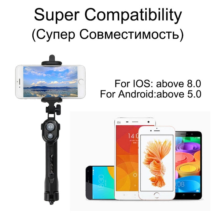Bluetooth Selfie Stick Tripod Extendable Monopod Universal For iPhone XR X  7 6s Plus For Samsung For Huawei Tripod JOYTOP 3 in 1