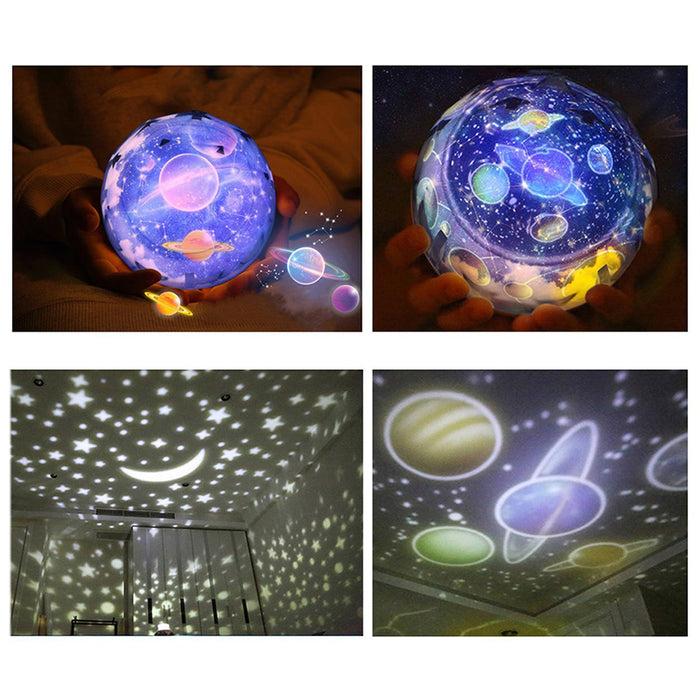 LED Starry Sky Night Light Star Moon Planet Projector Lamp Cosmos Universe Baby Nursery Light Gift