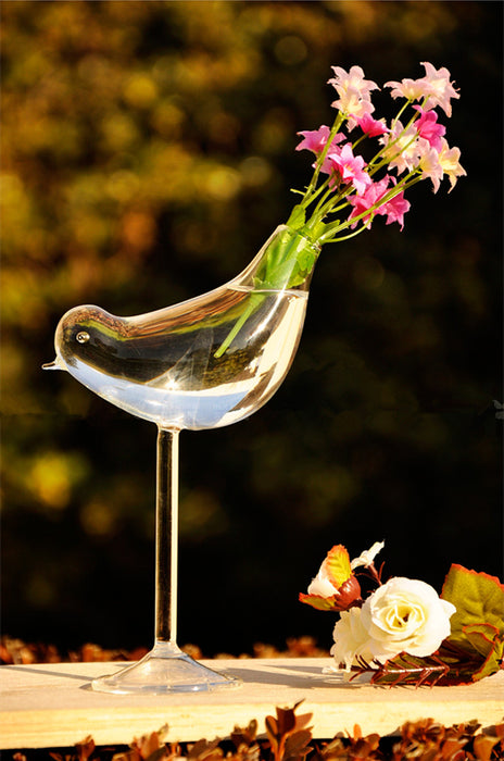 Tall bird vase glass vase  flower containers wedding decoration gift